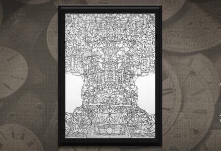 Concetto Spaziale 3 - Il Tempo framed