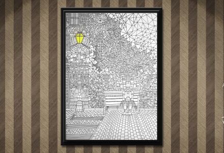 Attese (Waitings) framed