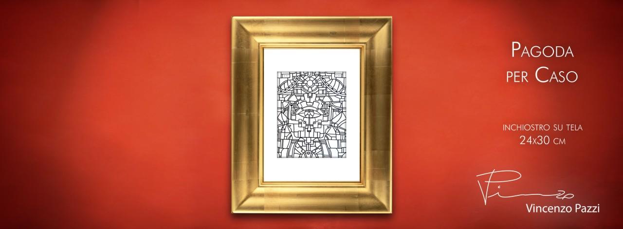 Pagoda per Caso framed